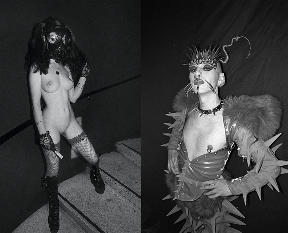 Derek Ridgers. Viktoria, Torture Garden, 2008. Fabian at The Rubber Ball, Hammersmith Palais, 1993.